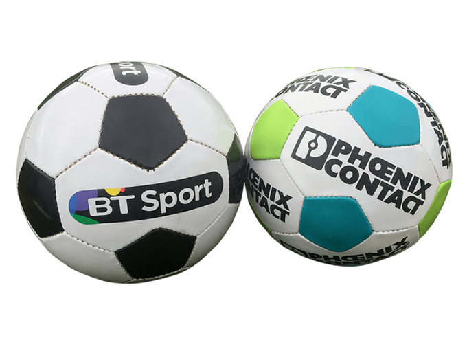 Promotional footballs with logo