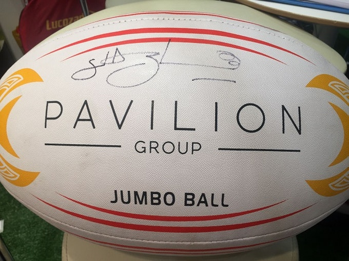 Lawrence-Dallaglio-signed-rugby-ball